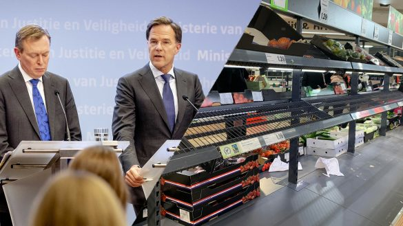 Photoshop of empty stores and prime minister Mark Rutte